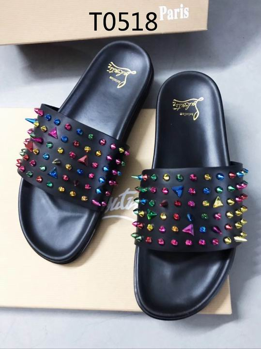 Louboutin Men's Slippers 09